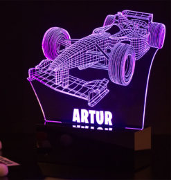 3d formula 1 night light room3