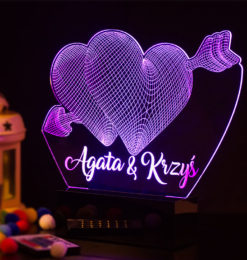 3d two hearts with arrow side room1