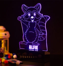 Baby racoon night light room1