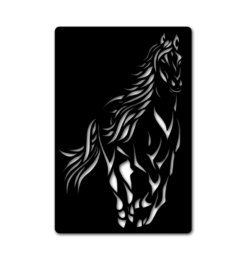 black horse wall decoration with shadow