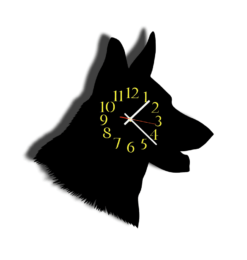 german shepherd black yellow no name wall shadow