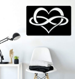 heart infinity v2 wall decoration room3