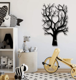 heart tree cut out wall decoration kids room