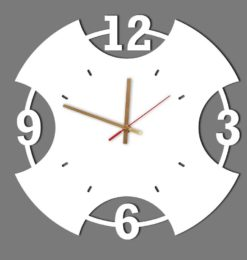 modern numeral acrylic wall clock white gold clockhands